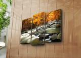 Tablou decorativ pe panza Horizon, 3 Piese, 237HRZ4243, Multicolor