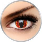 Crazy Sauron's Eye - lentile de contact colorate rosii anuale - 360 purtari (2 lentile/cutie)