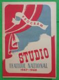 Program Teatrul National 1947-1948