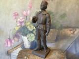 Design / Decor - Veche statueta din fonta de miner in uniforma cu parti lipsa !
