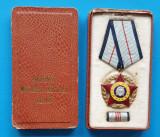 Set complet Ordin militar RSR Republica Socialista medalie cutie si bareta 1970