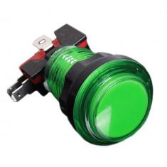 Buton Arcade Iluminat 24mm - Verde