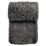 Patura cu blana de iarna,160×130 cm, 100% poliester, negru