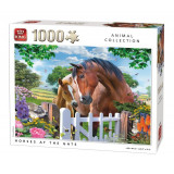 Puzzle 1000 piese Horses at the gate