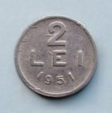 ROMANIA  -  2 Lei 1951, Aluminiu