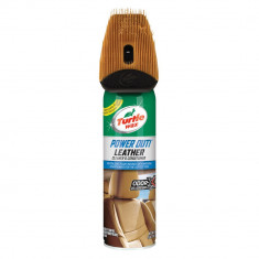 Spray curatare si intretinere tapiterie din piele, cu perie Turtle Wax Power Out Leather 400ml Kft Auto