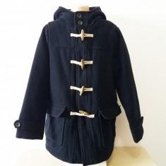 Palton superb baieti Zara, 9/10 ani, imblanit, in stare foarte buna!, 9-10 ani, Bleumarin