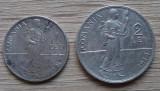Lot monede argint 1 leu și 2 lei 1914