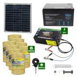 Pachetgard electric cuPanousolar 2,5J putere și8000m Fir160Kgcu acumulator 12Ah
