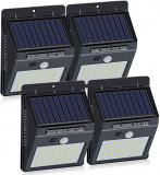 Set 4 Lampi Solare cu 30 LED, senzor de miscare si senzor de lumina