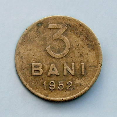 ROMANIA - 3 Bani 1952 foto