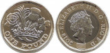 NOU - Marea Britanie moneda 1 Pound 2018 - UNC, Europa