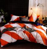 Lenjerie de pat din Bumbac 2 persoane 4 piese HX 31