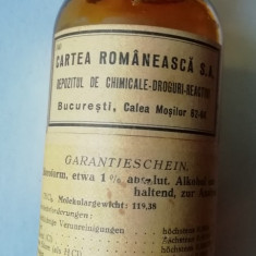 Sticla interbelica de farmacie din Bucuresti