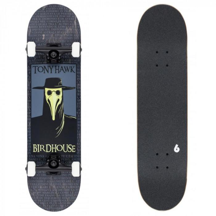 "Skateboard Birdhouse Stage 3 Plague Doctor 31.5X8"" Black"