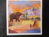 Bloc timbre fauna animale preistorice dinozauri stampilat timbre Tanzania