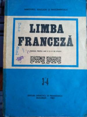 Limba franceză manual pentru anii III și IV de studiu foto