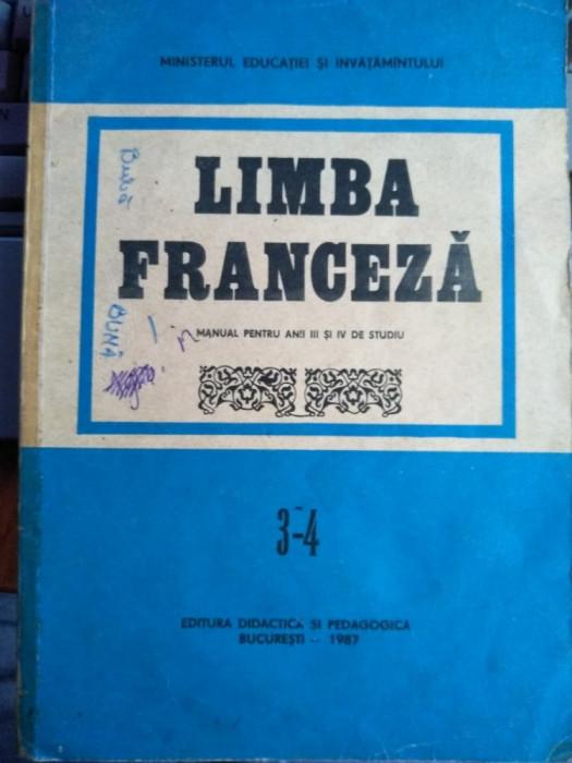 Limba franceză manual pentru anii III și IV de studiu