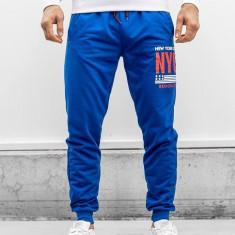 Pantaloni trening bărbați albastru MK02