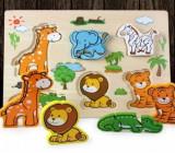 Puzzle lemn 3D Animale din jungla