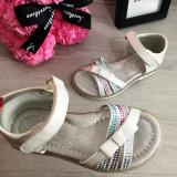 Cumpara ieftin Sandale albe elegante cu fundita si talpa moale pt fete 25 26 27 28 29 30