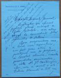 Dr. C. Daniel , scrisoare de demisie catre Al. Averescu , cu rezolutia acestuia