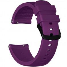 Curea ceas Smartwatch Samsung Gear S2, iUni 20 mm Silicon Purple