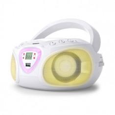 Auna Radio Boombox CD USB MP3 AM / FM Bluetooth 2.1 cu LED Culoare alb