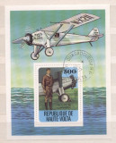 Haute Volta 1978 Aviation, perf.sheet, used AK.074