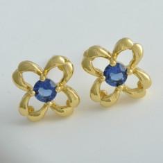 Cercei Flower Royal Blue