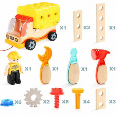 Jucarie 2 in 1 - Camion si banc de lucru PlayLearn Toys