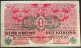 Bancnota ISTORICA 1 COROANA - AUSTRO-UNGARIA (AUSTRIA), anul 1916   *cod 375 C