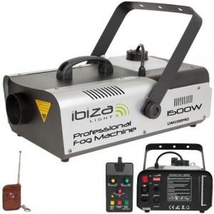 Masina profesionala de fum Ibiza, 1500 W, 2 telecomenzi, 2.3 l