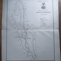 JUDETUL TECUCIU/ JUDETUL TECUCI  // HARTA CROMOLITOGRAFIATA, 1904