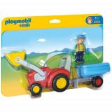 Figurina Tractor cu Remorca - 1.2.3, Playmobil