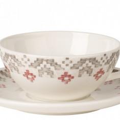 Ceasca si farfuriuta ceai Villeroy & Boch Artesano Montagne 0.24 litri