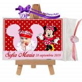 Marturii botez magneti Handmade by Diana Puiu Minnie Mouse MDFM 4