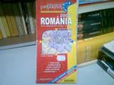 ROMANIA - HARTA ADMINISTRATIVA, RUTIERA, TURISTICA, 2005