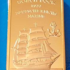 Lingou Auriu GORCH FOCK 1933 Corabie Imperiala UNC, Europa