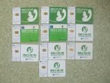 LOT DE 10 CARTELE TELEFONICE ROMANESTI DE COLECTIE