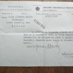 BRAILA, LICEUL COMERCIAL DE FETE, 1939