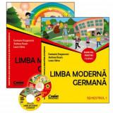 Limba moderna germana. Manual pentru clasa I (sem.I şi al II-lea) + 2 CD | Evemarie Draganovici, Andreea Rusen, Laura Udrea, Corint