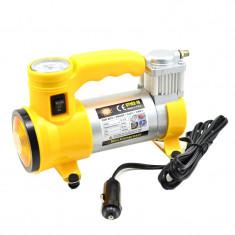 Compresor auto Cyclone, 12 V, 35 l/min, 150 PSI, 10 BAR, lanterna, manometru incorporat