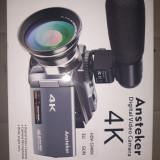 4k Camcorder Ansteker 48mp 30fps Ultra HD WiFi Video Camera IR Night V