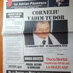 Ziarul flacara 18-24 septembrie 2015-moartea lui corneliu vadim tudor