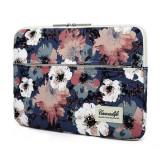 Husa Impermeabila Universala MacBook Air/Pro 15 Inch - Canvaslife Sleeve Camellia