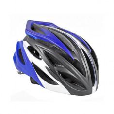 Casca de protectie, pentru bicicleta, adulti, negru/albastru, YTGT-50158.9