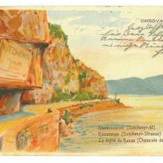 1694 - ORSOVA, Danube Kazan, Romania - old postcard - used - 1907