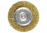 Perie pentru bormasina, 30 mm, coada plata, sarma ondulata din otel// MTX...