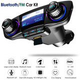 Modulator Transmitator FM Auto Bluetooth, USB dublu, AUX, MicroSD si Jack 3.5mm, Modulator FM Stereo, ART